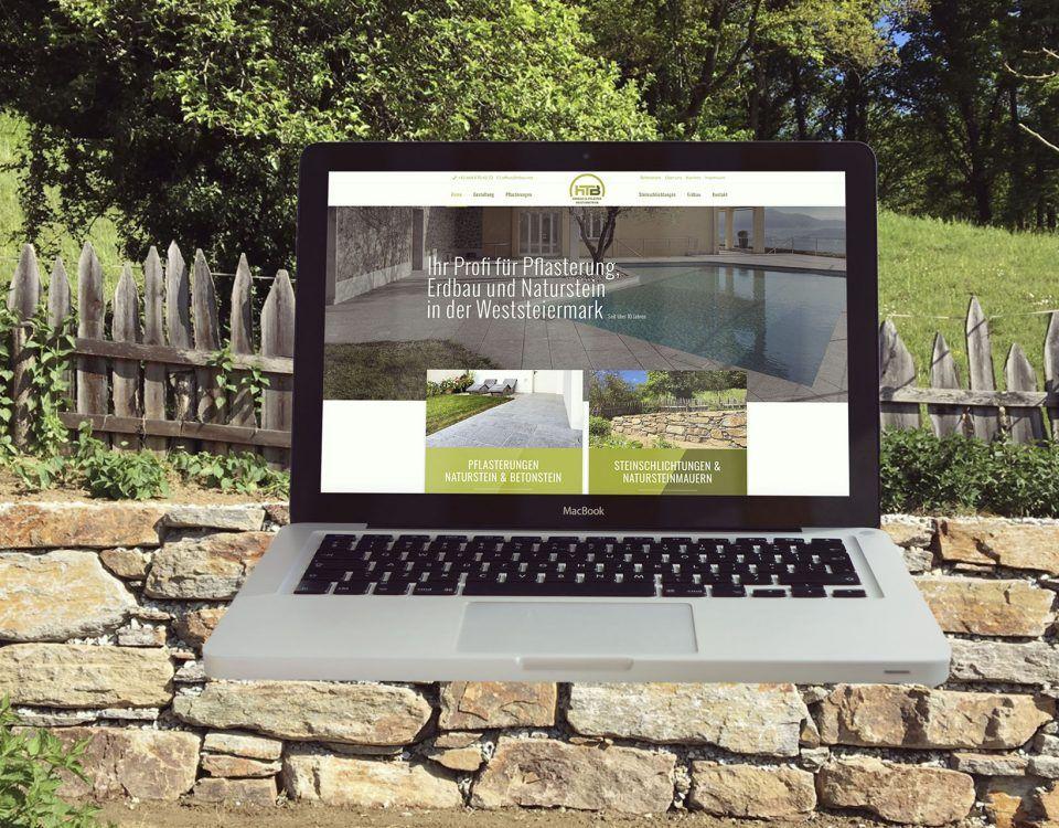 Fa. Hörzer & Tappler, htbau.net, Screen-Ansicht von der neuen Website
