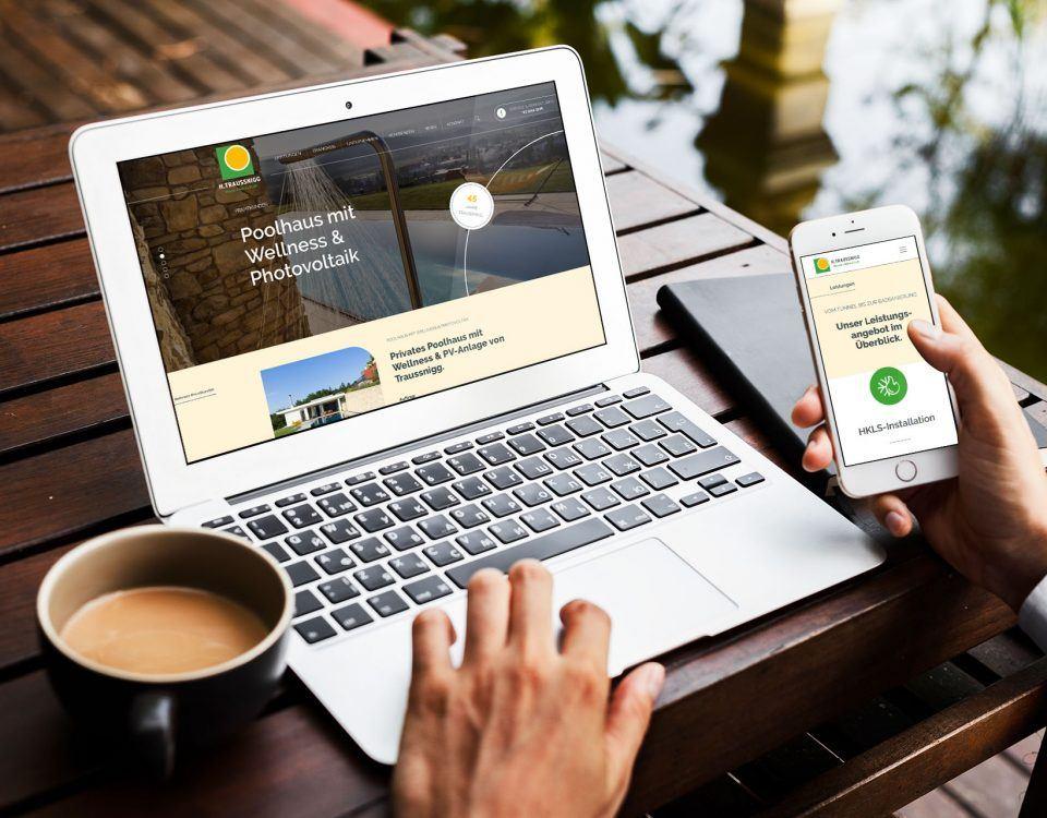Traussnigg - neue Website, Installateur Köflach