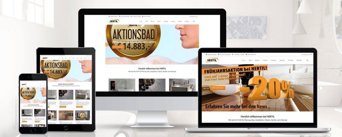 Website Hertil - der Badinstallateuer in Leoben und Knittelfeld