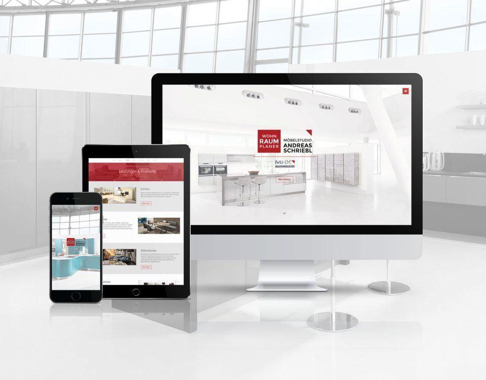 Website vom Wohnraumplaner Schriebl Voitsberg, der Experte für Inneneinrichtung und Küchen